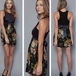 Free People Boho Patchwork Beaded Floral Dress S